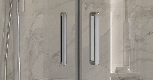 Solid Metal Double Handles Inside and Out