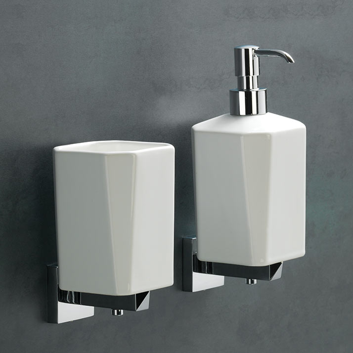 Vitti tumbler & soap dispenser