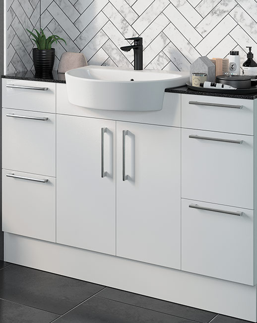 All Alba doors and drawers come with a luxurious soft close action