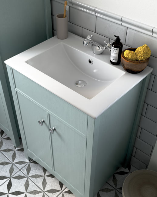 The Lucia vanity units come with a generously sized basin