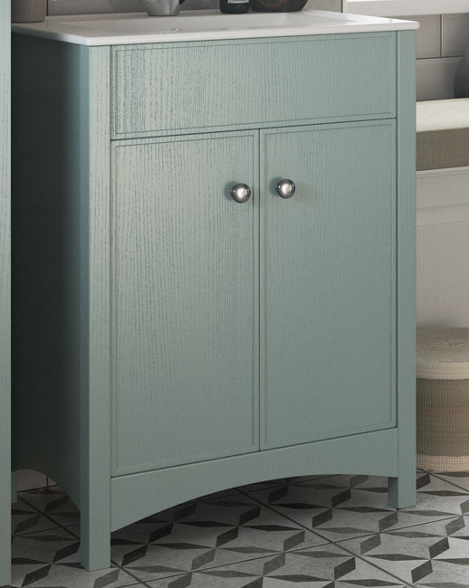 The distinct edging of the 'tea tray' style doors provides a design feature that gives Lucia a modern twist