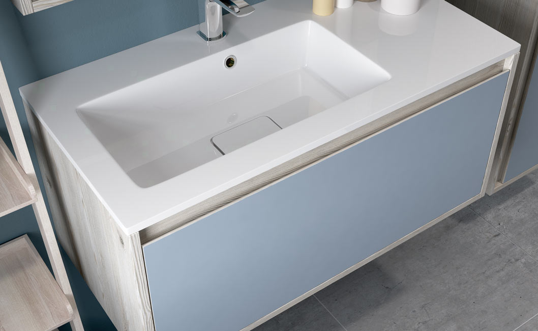 Senzo vanity with sit in basin