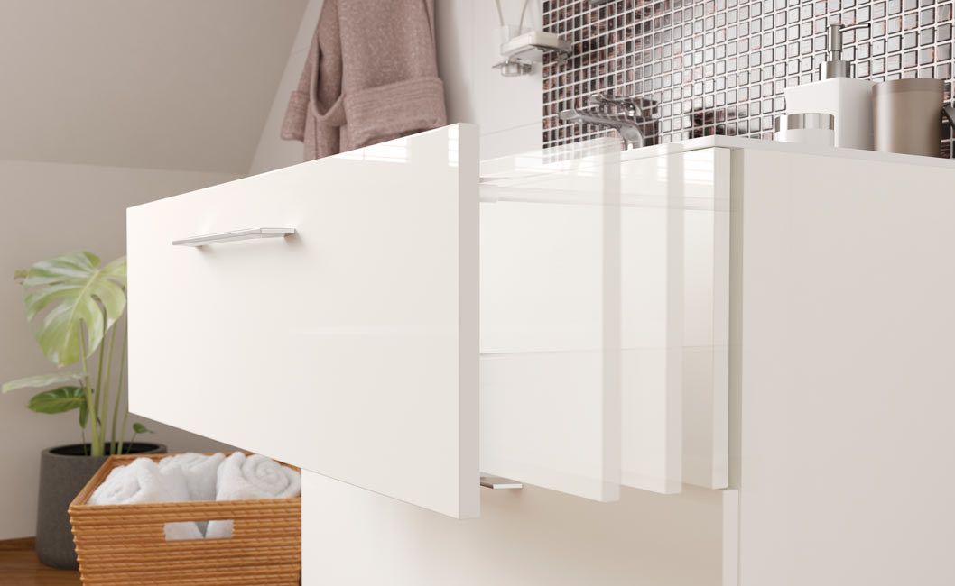 All Serena units feature soft close drawers