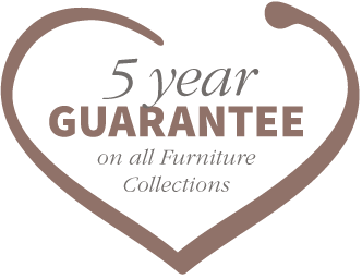 5 year guarantee on all furniture collections