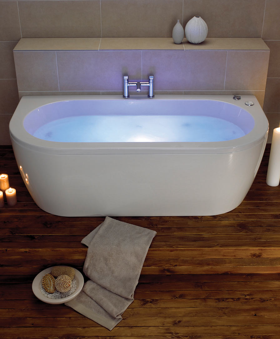 Decadence luxury double end bath with Wellness chromatherapy system