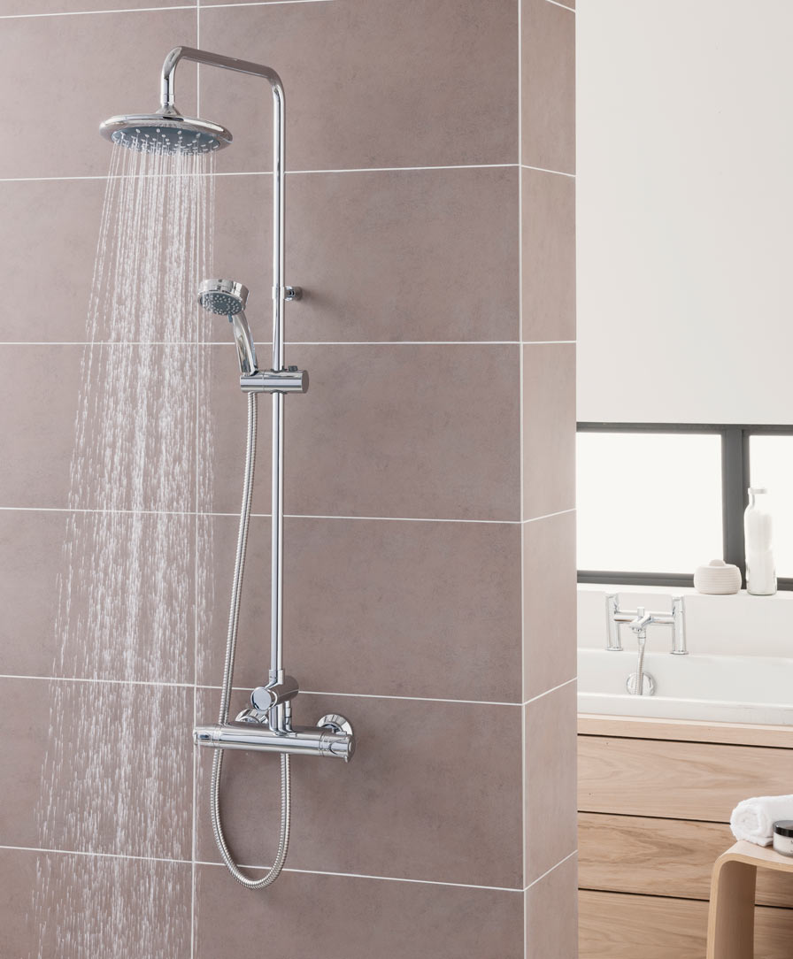 Dene Thermostatic Bar Mixer with Diverter