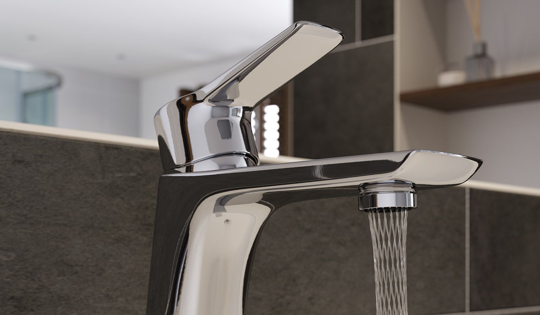 Ricco Wall Mounted Basin Mixer