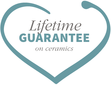 Lifetime guarantee on ceramics