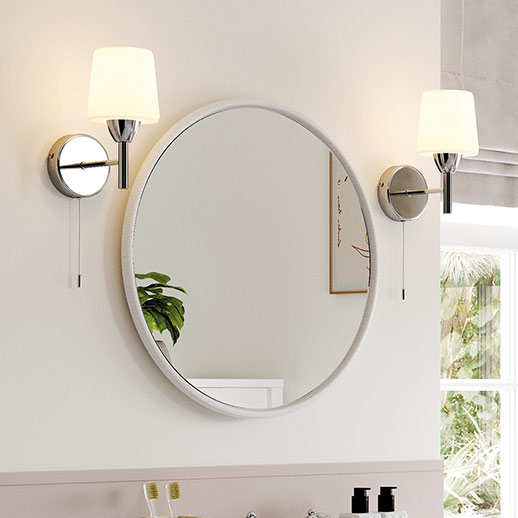 Complement the Senna suite with the Lucia mirror