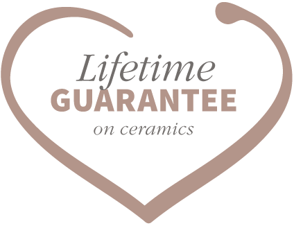 Lifetime guarantee on ceramics